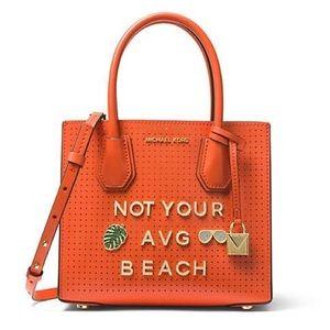 Michael Kors Mercer Perforated Messenger Bag Beach